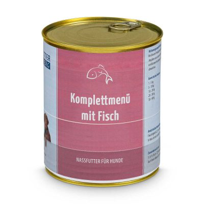 Nassfutter-Komplettmenü mit Fisch