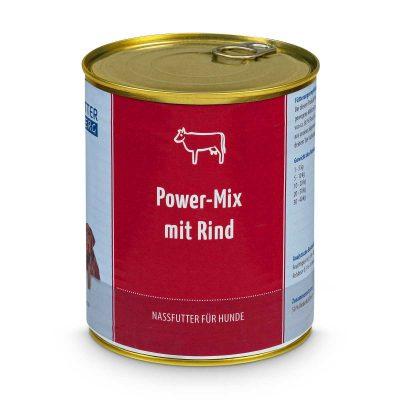 Nassfutter Power-Mix mit Rind