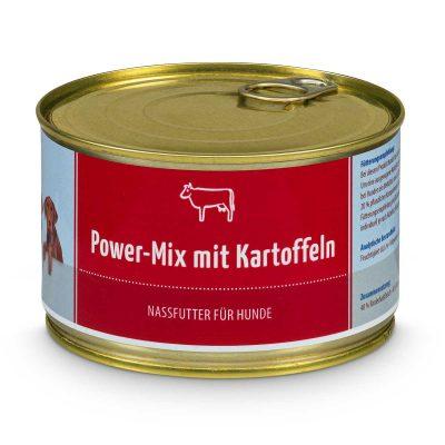 Nassfutter Power-Mix mit Rind & Kartoffeln