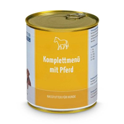 Wet Food - Complete Menu with horse