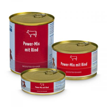 Wet Food Power-Mix with beef