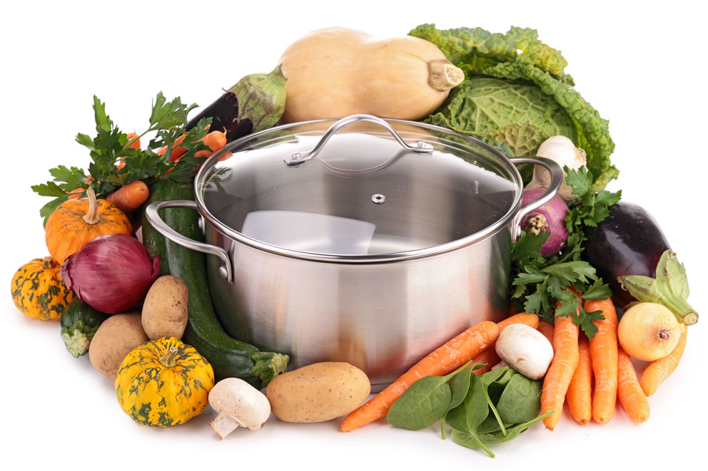 Gemüse mit Kochtopf | Frostfutter Perleberg